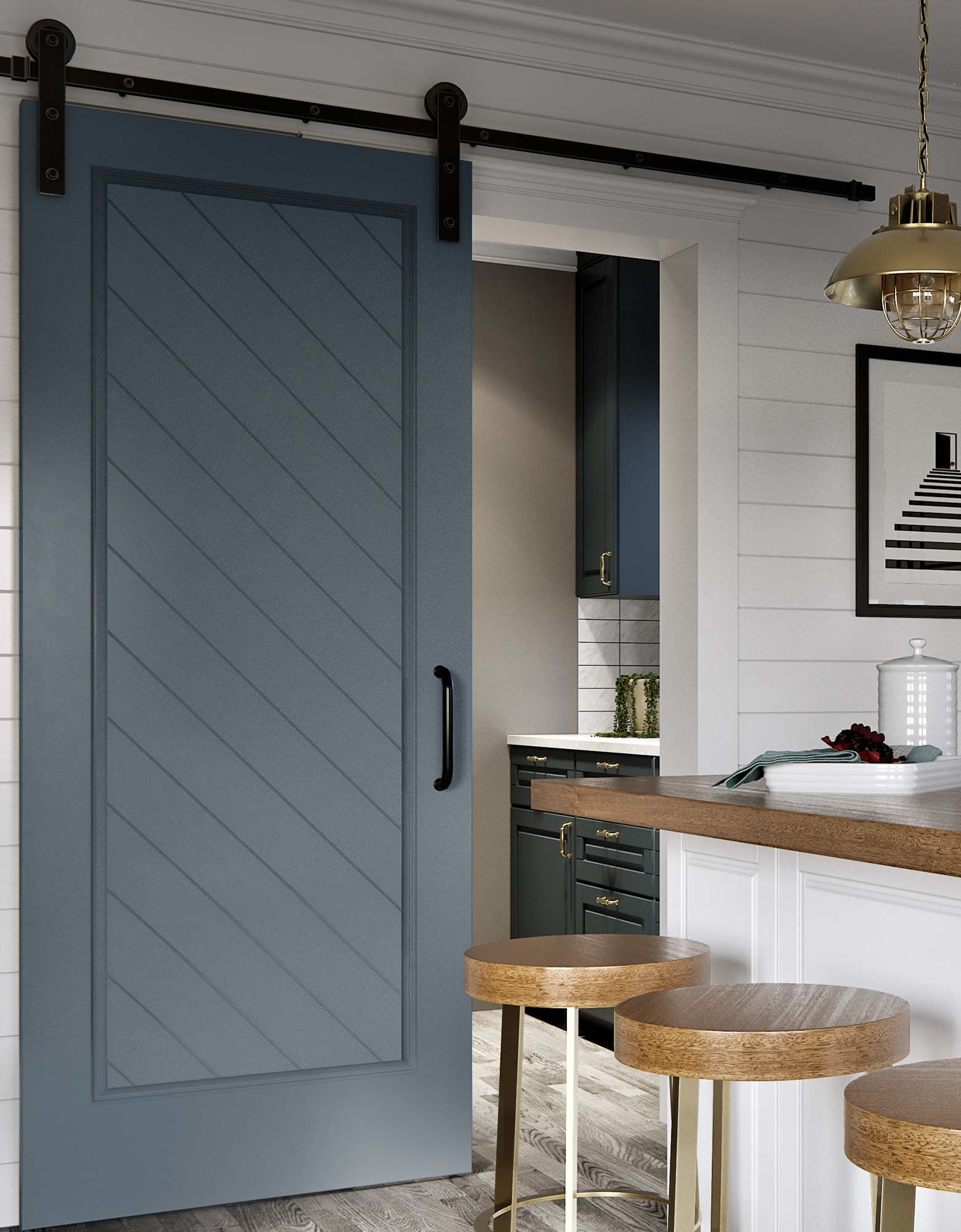 Barn Door Amp Axel Raw Steel Flat Track Sliding Barn Door
