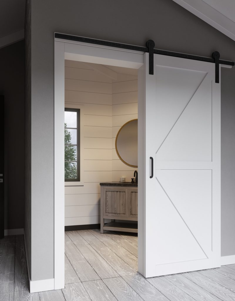 K bar style barn door kit jeff lewis design for The barn door company